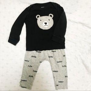 12M Happy Little Cute Bear Long Sleeve Pajama Set